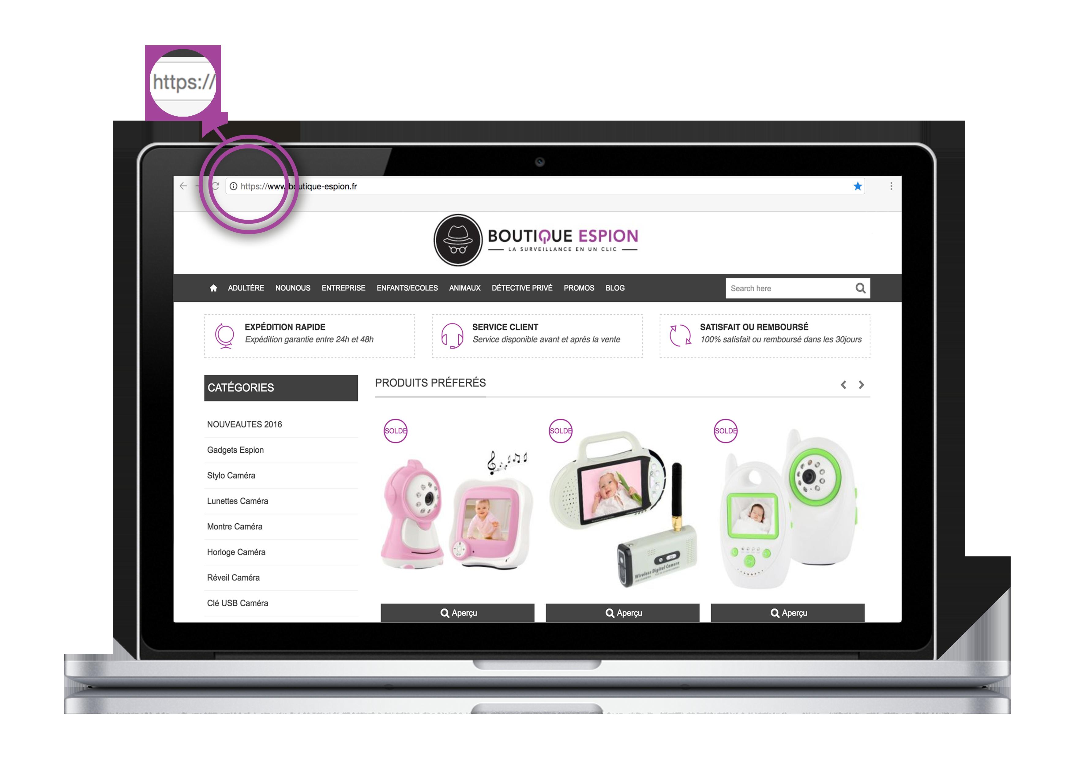 Sécurité https boutique-espion.fr